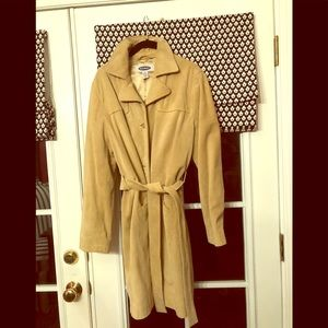 OLD NAVY SUEDE TRENCH COAT